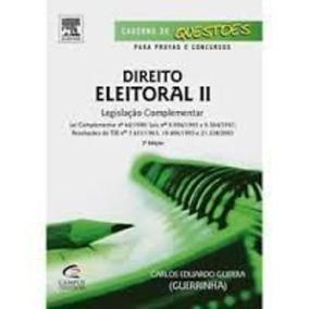 Livro Direito Eleitoral Ii Carlos Eduardo Guerra