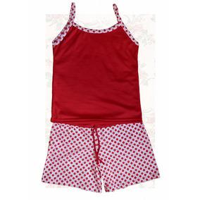 Conjunto De Pijamas Short Y Franelilla Niñas