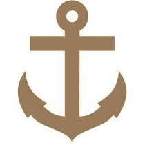 Aplique De Parede Ancora-marinheiro-nautico-mdf Cru-festas
