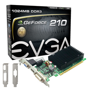 Placa De Video Nvidia Gt 210 1gb Ddr3 64bits Low Pf Evga