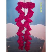 Bufanda Enrollada Tejida Al Crochet