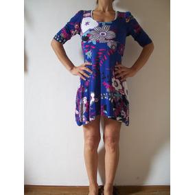 Vestido Corto Remeron Usado Mangas 3/4 Talle 38