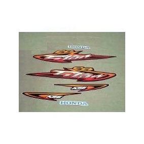 Kit Adesivos Faixas Honda Cg 125 Titan Kse 2003 - Vermelha