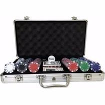 Maleta De Poker Com 300 Fichas Oficiais Kit Completo