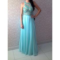 Vestido De Festa Verde Tiffany/casamento/madrinha-p/entrega