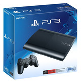 Nueva Ultima Version Slim 500 Gb Consola Ps3 + Ds3+ 2 Juegos