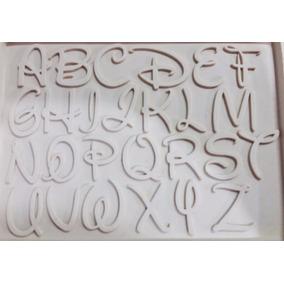 Molde De Silicone Alfabeto Disney Letras Culinária E Biscuit