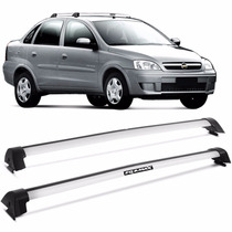 Rack Teto Bagageiro Corsa Hatch Sedan 2003 A 2012 Wave Prata
