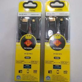 Cable Micro Hdmi A Hdmi Pickens 3m Certificado