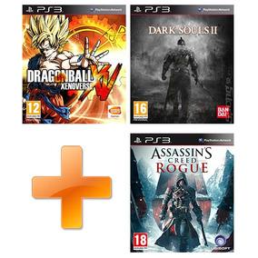 Db Xenoverse + Dark Souls 2 + Ac Rogue - Ps3 Pack Digital