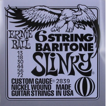 Set Cuerdas Ernie Ball 2839 13-72 Baritone Slinky Guitarra