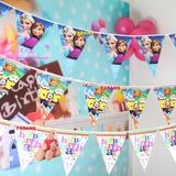 Banderines Fiesta Decoracion Frozen Peppa Minions Cars Sofia