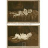 Ib21 Lote X 2 Fotos Postal Bebe Desnudo Bixio C1930