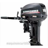 Motor De Popa Kawashima 15hp Igual Yamaha Mercury Evinrude