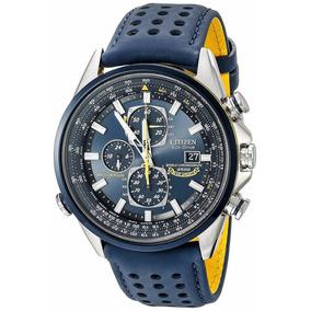 Reloj Citizen At8020-03l Acero Inoxidable Correa Cuero Azul