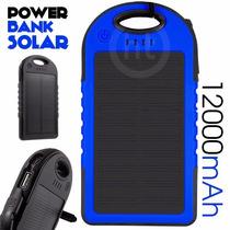 Bateria Solar 12,000 Mah Power Bank + Arnes + Envio Gratis
