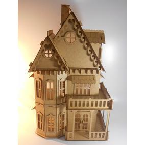 Casa Castelo Grande+ Boneca Polly+27 Mini Moveis +carrinho