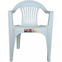 Cadeira Plástica Poltrona Branca Empilhável 182kg Promoção