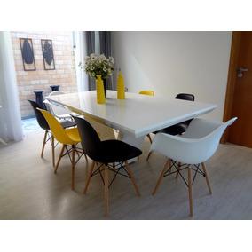 Mesa Jantar De Resina Modelo Brina 1.80 X 0.80 Cor Branca