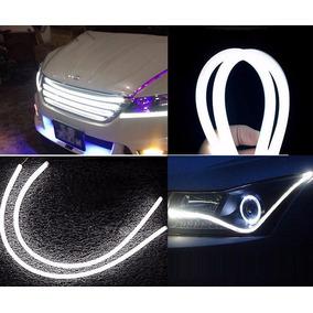 Fita Par Led Flexível Farol Drl+ Seta Luz 60 Cm Carro Moto