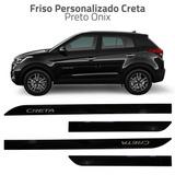 Friso Personalizado Pintura Autom. Creta Hyundai Preto Onix