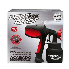 Pistola Para Pintar Paint Blast Pro Tanque 800ml Con Luz Led