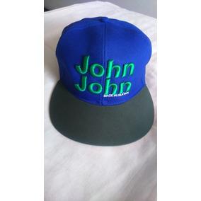 Boné John John Aba Reta Bordado - Novo