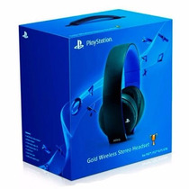 Headset Gold 7.1 Fone Wireless Stereo Sony Ps3 Ps4