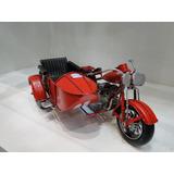 Moto Con Sidecar Antiguo Réplica Decorativos