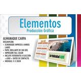 Almanaques Carpita Publicitarios/ Souvenirs X 100 Unidades