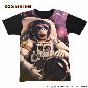 Camiseta Psicodélica - Space Monkey - Macaco Do Espaço