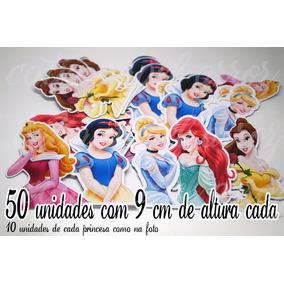 Princesas 50 Unidade Aplique Maçã Do Amor Tubete Aniversário