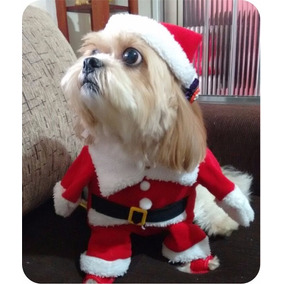 Fantasia Roupa Para Cachorros E Gatos Roupa Papai Noel Natal