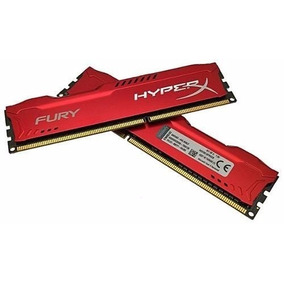 Memória Gamer Kingston Hyperx Fury Ddr3 4gb Vermelha Genuína