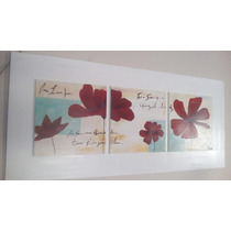 Cuadros Pintados A Mano Rectangulares De Flores Y Abstractos