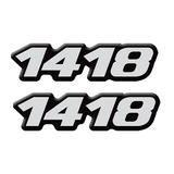 Kit Emblema Adesivo Caminhao Mercedes Benz 1418 Resinado