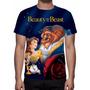 Camisa, Camiseta Disney A Bela E A Fera - Estampa Total