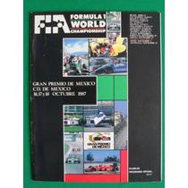 1987 Programa Oficial Gran Premio De Mexico De Formula Uno