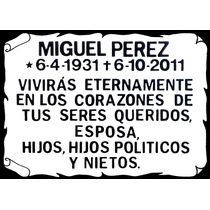 Placa Cerámica Arteser Memorial Cementerio 35x25cm