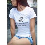 T-shirt Personalizada Velhos Caminhos Não Abrem Novas Portas
