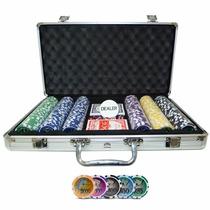 Maleta Poker Profissional 300 Fichas Numeradas Kit Completo