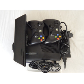 Xbox 360 Slim 250gb + Kinect + 2 Controles Estado De Novo