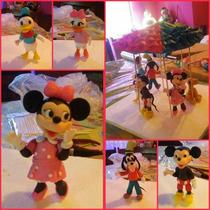 Mickey Y Sus Amigos Adorno De Torta En Porcelana