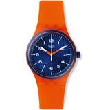 Swatch Suto401 Sistem Mandarina Azul Naranja Dial Fecha De