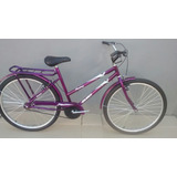 Bicicleta Aro 26 Mod. Poti Cor Violeta C/ Cesta