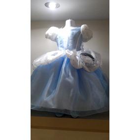 Vestido Princesa Cenicienta C/zapatos Y Corona Envio Gratis