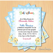 Kit Imprimible Baby Shower Gemelos + Candy Bar Personalizado