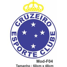 f1d371e95e Adesivo De Parede Cruzeiro Escudo Time Futebol