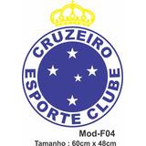 Adesivo Para Decoração Cruzeiro Escudo Time De Futebol
