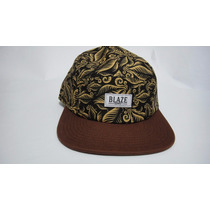 Boné Five Panel Blaze Supply Flower Gold 2 Importado